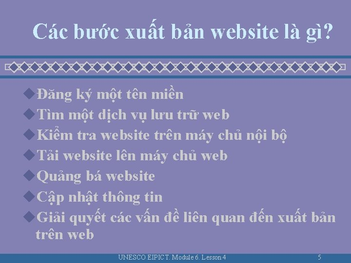 Các bước xuất bản website là gì? uĐăng ký một tên miền u. Tìm