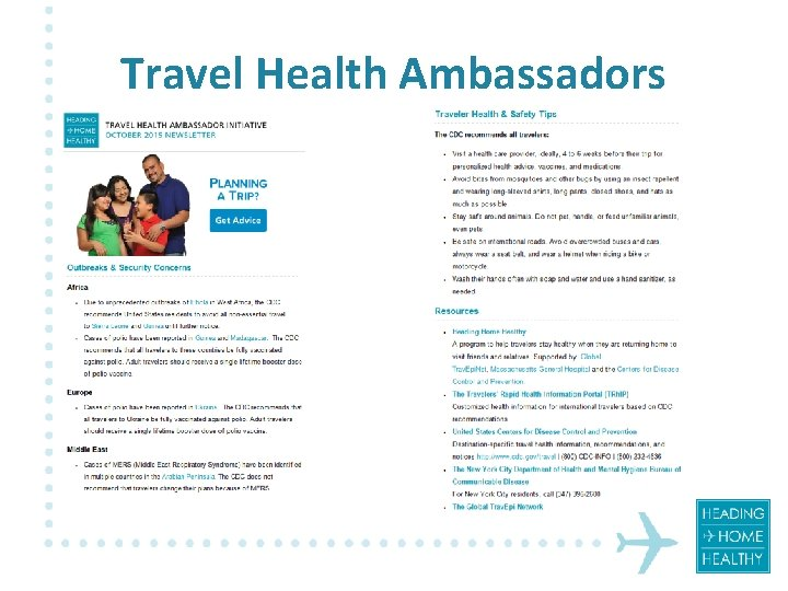 Travel Health Ambassadors