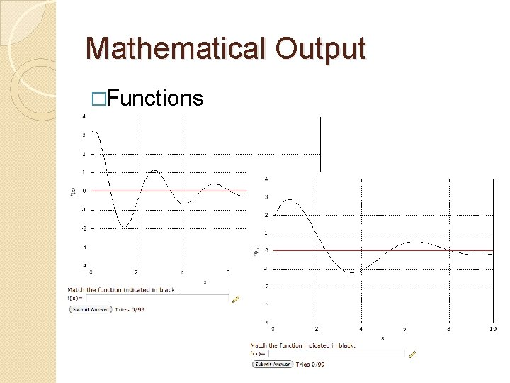 Mathematical Output �Functions