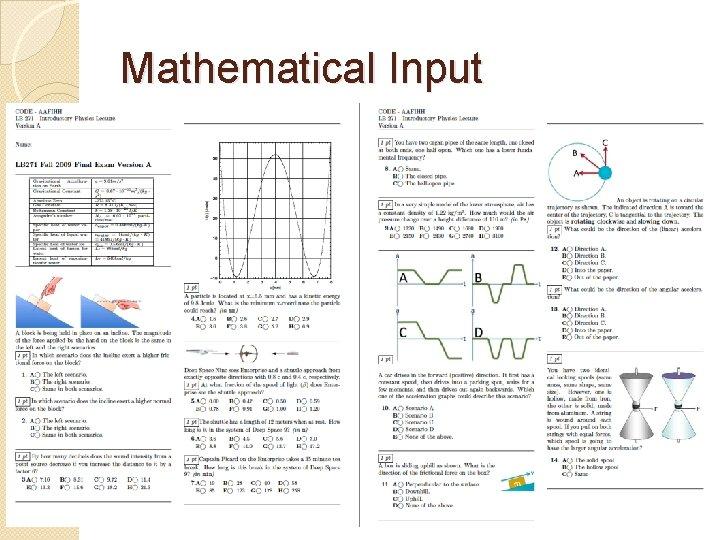 Mathematical Input