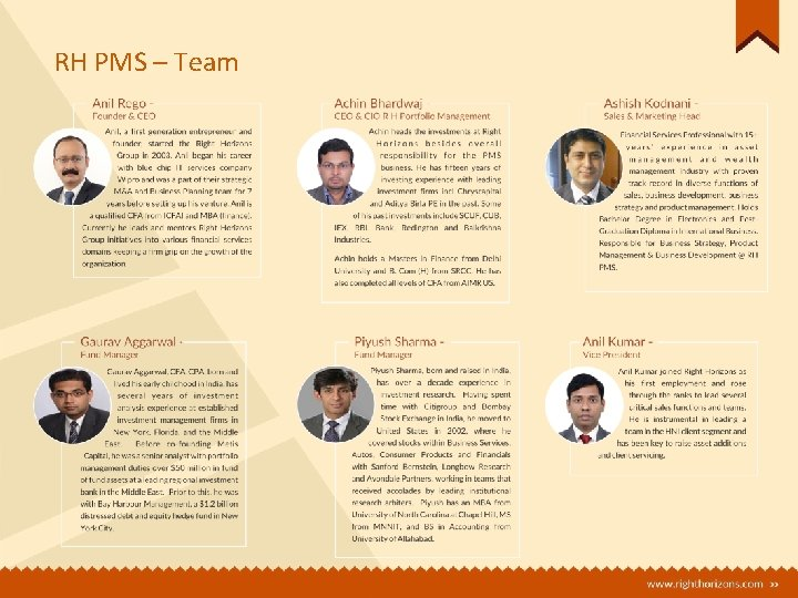 RH PMS – Team