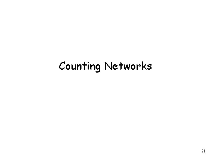Counting Networks 21