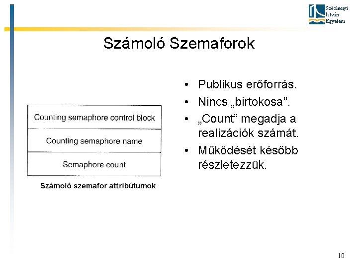 """Széchenyi István Egyetem Számoló Szemaforok • Publikus erőforrás. • Nincs """"birtokosa"""". • """"Count"""" megadja"""