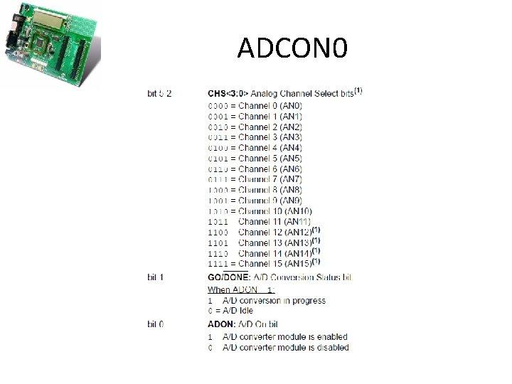 ADCON 0