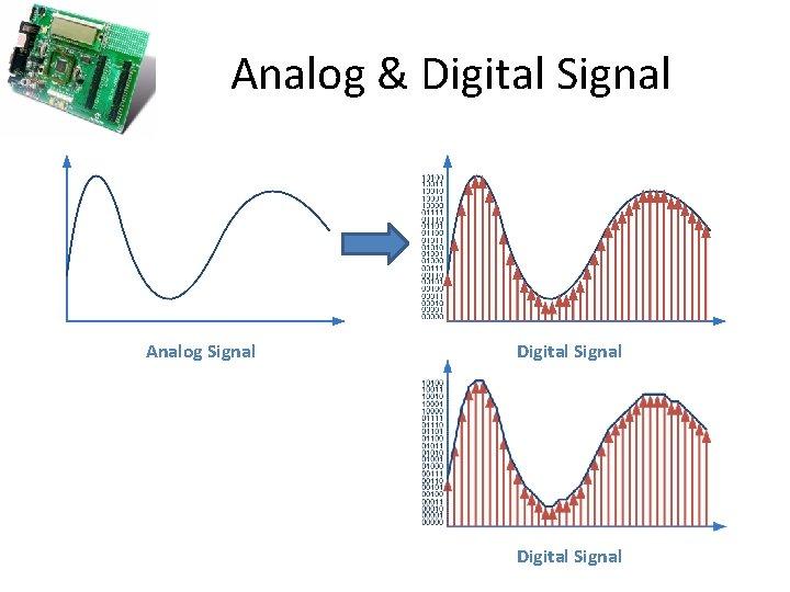 Analog & Digital Signal Analog Signal Digital Signal