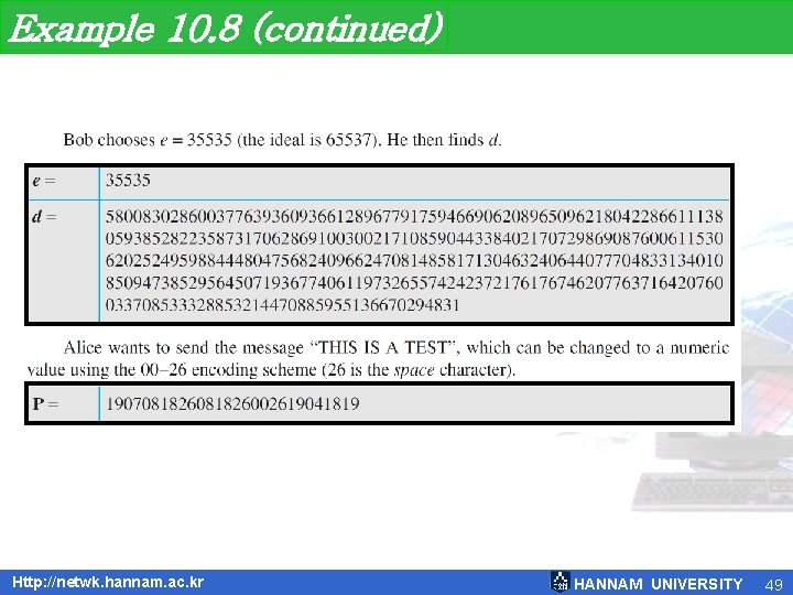 Example 10. 8 (continued) Http: //netwk. hannam. ac. kr HANNAM UNIVERSITY 49