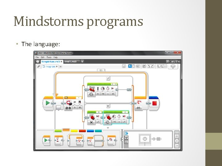 Mindstorms programs • The language: