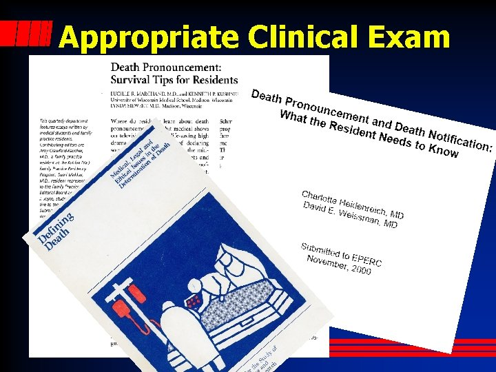Appropriate Clinical Exam