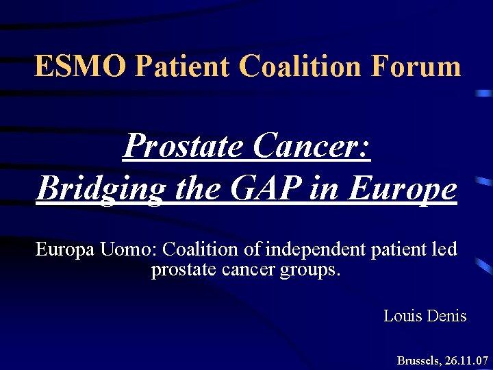 prostate cancer forum