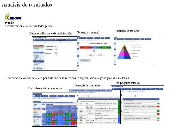 Análisis de resultados permite : • realizar un análisis de resultados general… Datos estadísticos