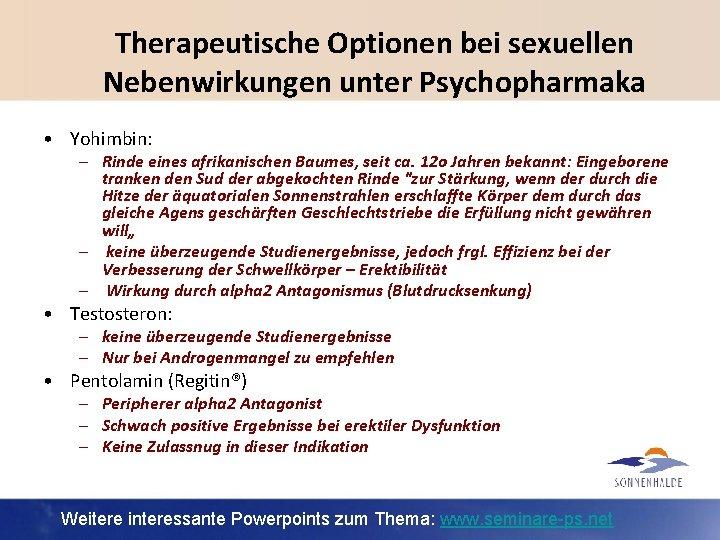 Nebenwirkungen antidepressiva ohne sexuelle Sexuelle Nebenwirkungen