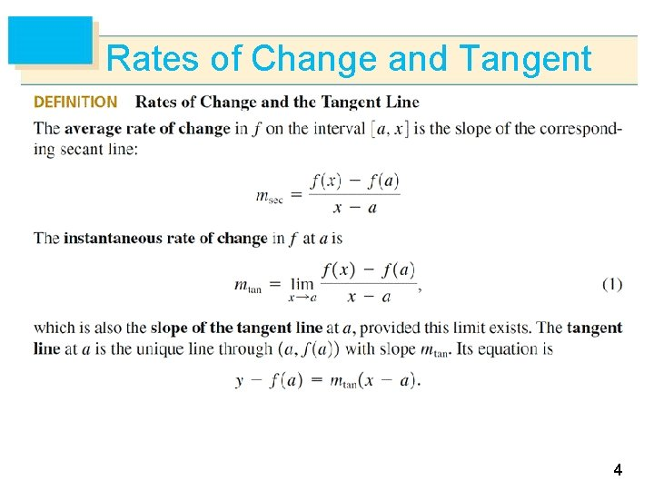 Rates of Change and Tangent 4