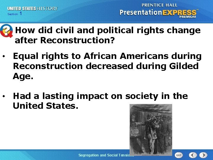 Chapter Section 1 25 Section 1 How did civil and political rights change after