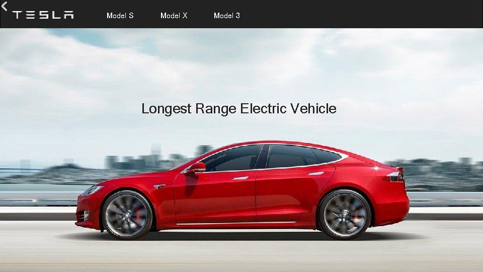 Model S Model X Model 3 Longest Range Electric Vehicle