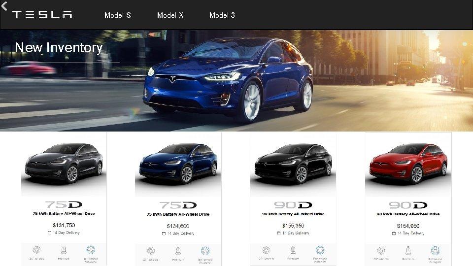 Model S New Inventory Model X Model 3