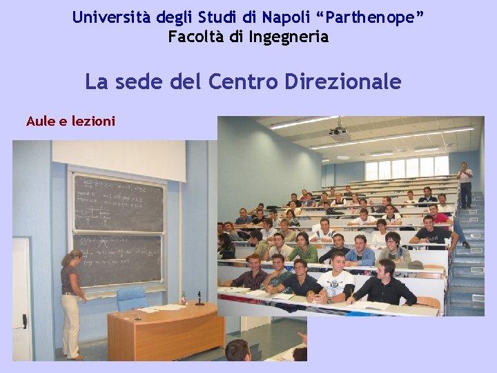 Anno Accademico 2009 2010 Facolt Di Ingegneria Sede