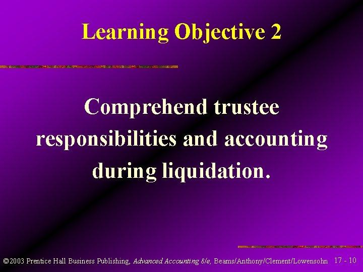 Liquidating trustee responsibilities love and dating games