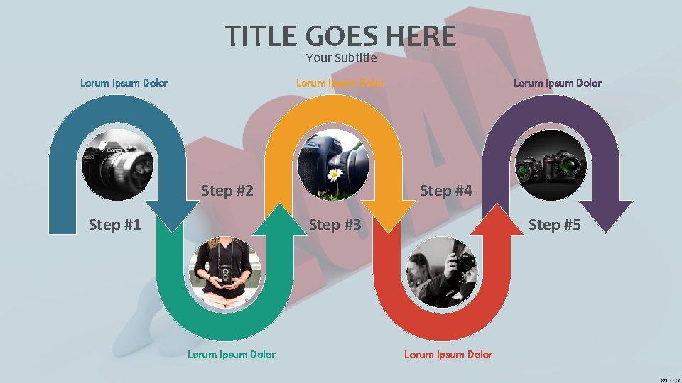 TITLE GOES HERE Your Subtitle Lorum Ipsum Dolor Step #2 Step #1 Lorum Ipsum