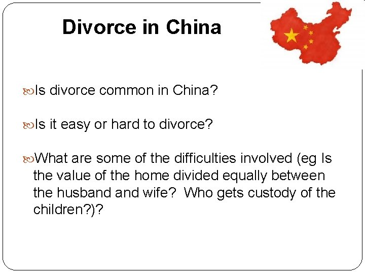 Divorce in China Is divorce common in China? Is it easy or hard to