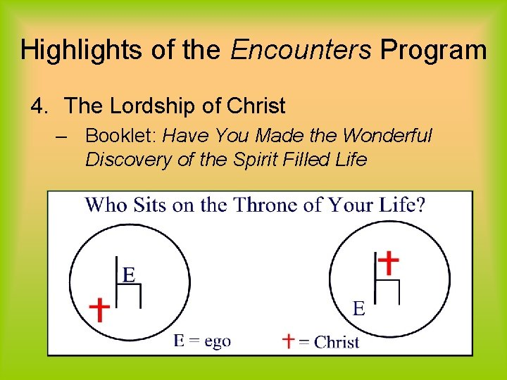 Highlights of the Encounters Program 4. The Lordship of Christ – Booklet: Have You