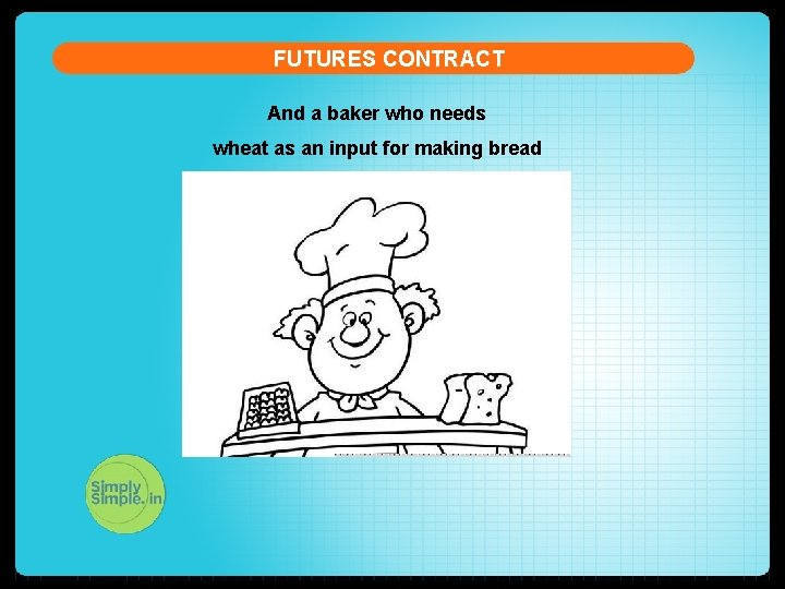 FUTURES CONTRACT And a baker who needs wheat as an input for making bread