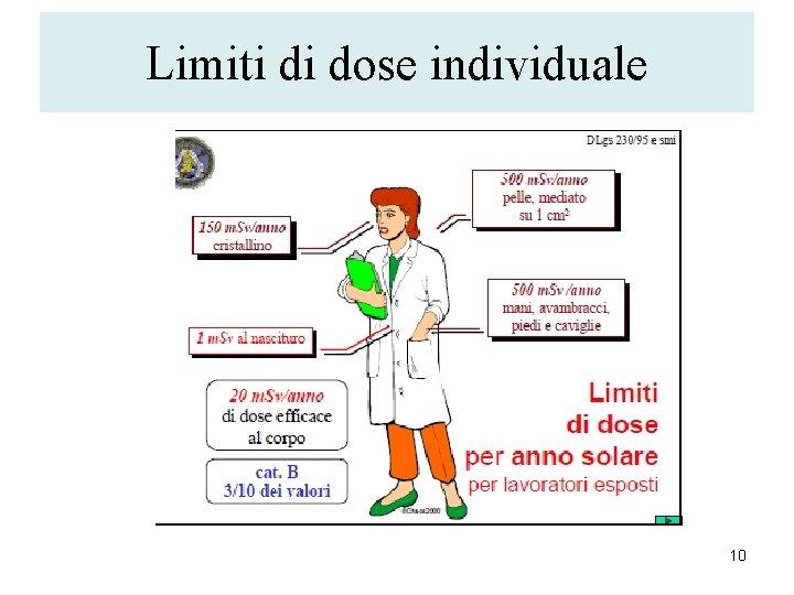Limiti di dose individuale 10