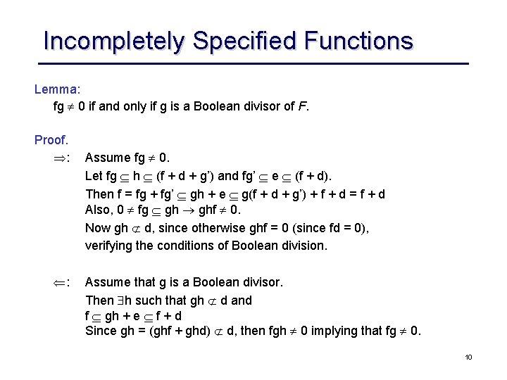 Logic Synthesis Boolean Division Courtesy Rk Brayton Ucb