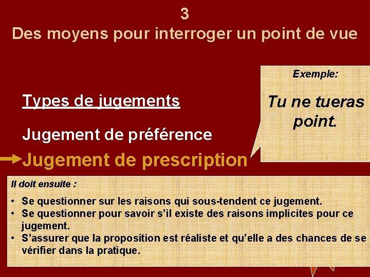 Prescription Jugement