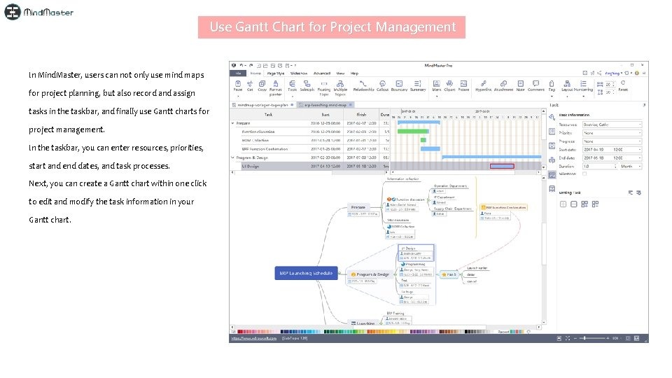 Use Gantt Chart for Project Management In Mind. Master, users can not only use