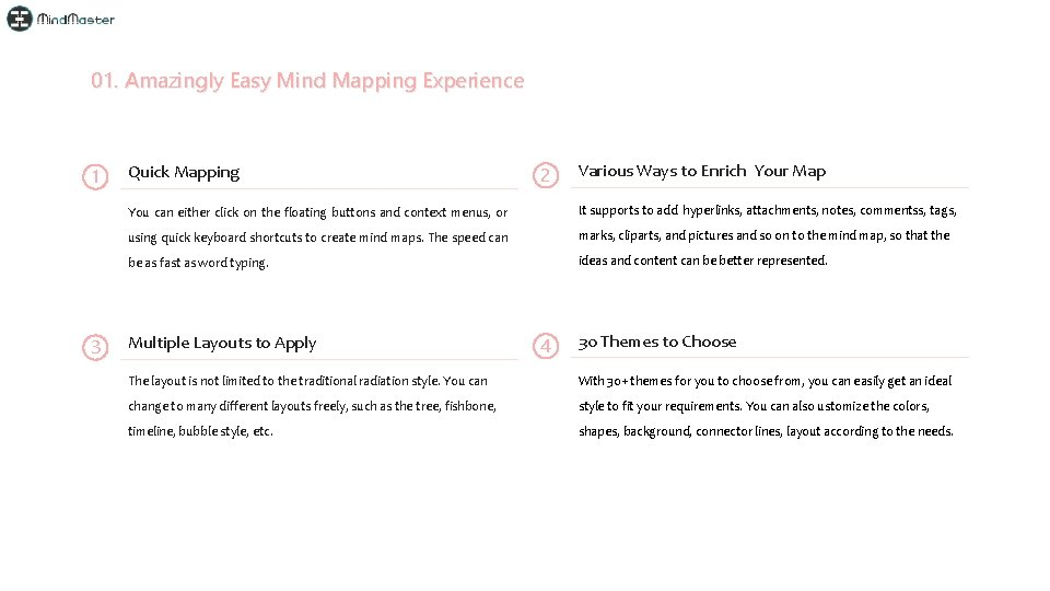 01. Amazingly Easy Mind Mapping Experience 1 3 Quick Mapping 2 Various Ways to