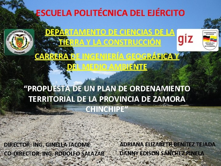 ESCUELA POLITÉCNICA DEL EJÉRCITO DEPARTAMENTO DE CIENCIAS DE LA TIERRA Y LA CONSTRUCCIÓN CARRERA