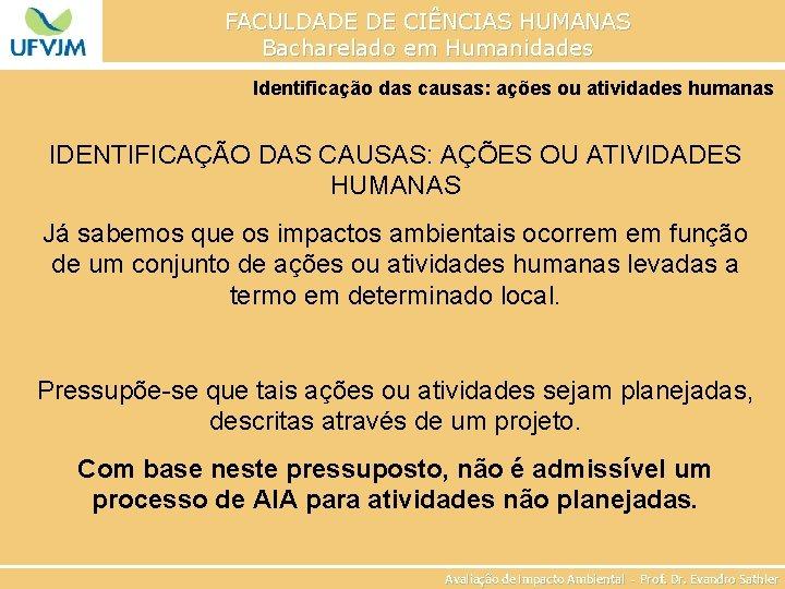 Faculdade De Cincias Humanas Bacharelado Em Humanidades Avaliao