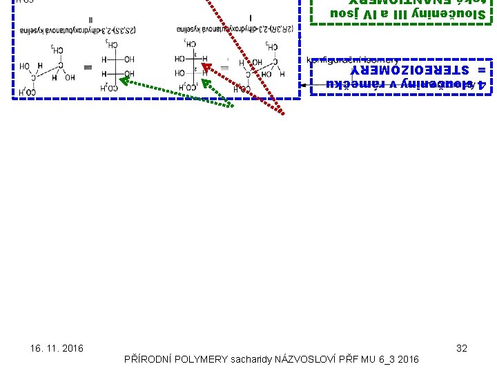 Sloučeniny III a IV jsou 4 sloučeniny v rámečku = STEREOIZOMERY 16. 11. 2016