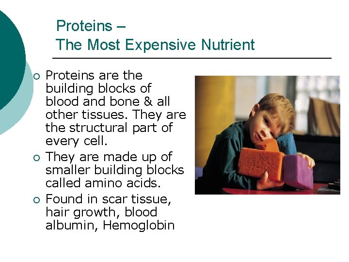 Proteins – The Most Expensive Nutrient ¡ ¡ ¡ Proteins are the building blocks