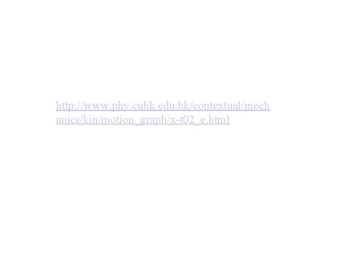 http: //www. phy. cuhk. edu. hk/contextual/mech anics/kin/motion_graph/x-t 02_e. html