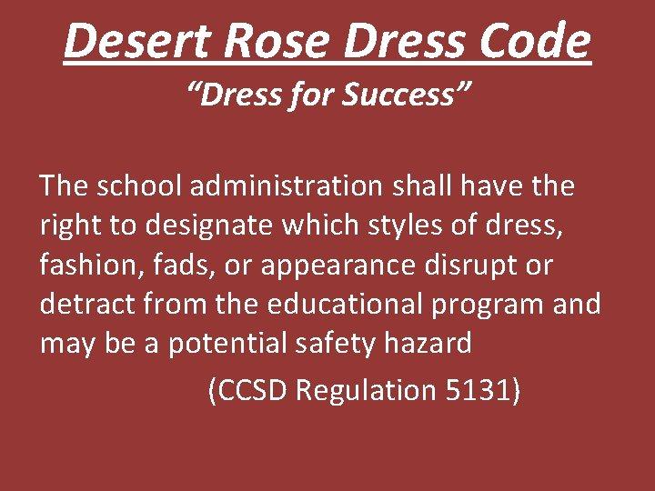 Desert rose adult ed
