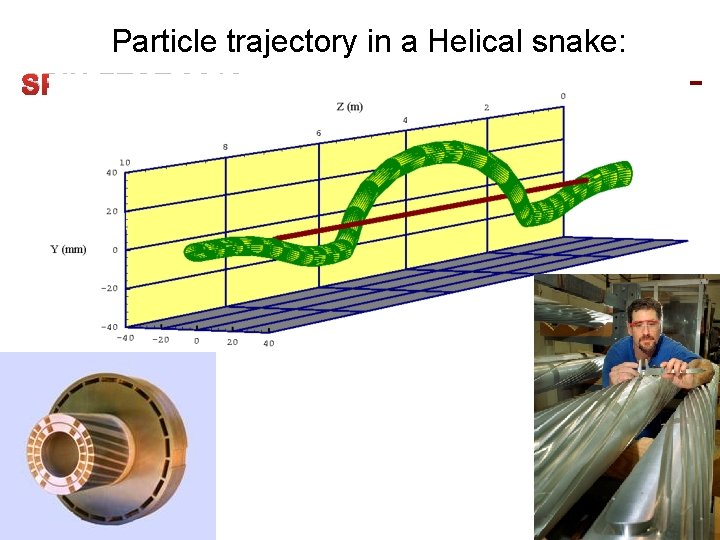 Particle trajectory in a Helical snake: SPIN FEST 2012