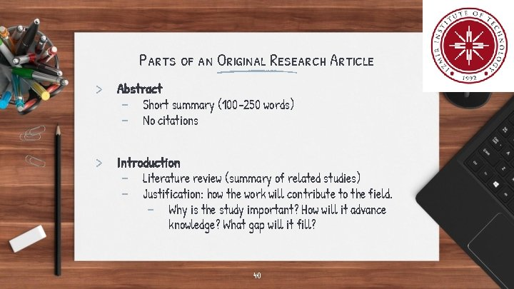 Parts of an Original Research Article > Abstract - Short summary (100 -250 words)