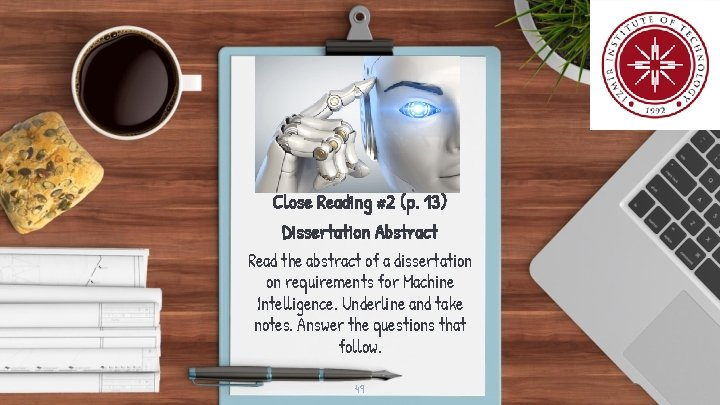 Close Reading #2 (p. 13) Dissertation Abstract Read the abstract of a dissertation on