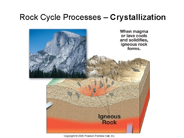 Rock Cycle Processes – Crystallization