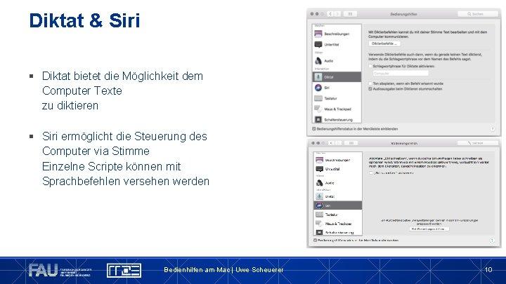 Diktat & Siri § Diktat bietet die Möglichkeit dem Computer Texte zu diktieren §