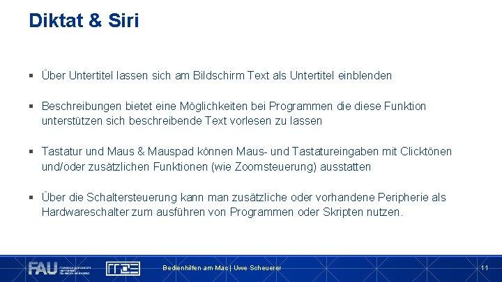 Diktat & Siri § Über Untertitel lassen sich am Bildschirm Text als Untertitel einblenden