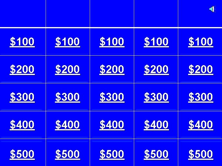 $100 $100 $200 $200 $300 $300 $400 $400 $500 $500