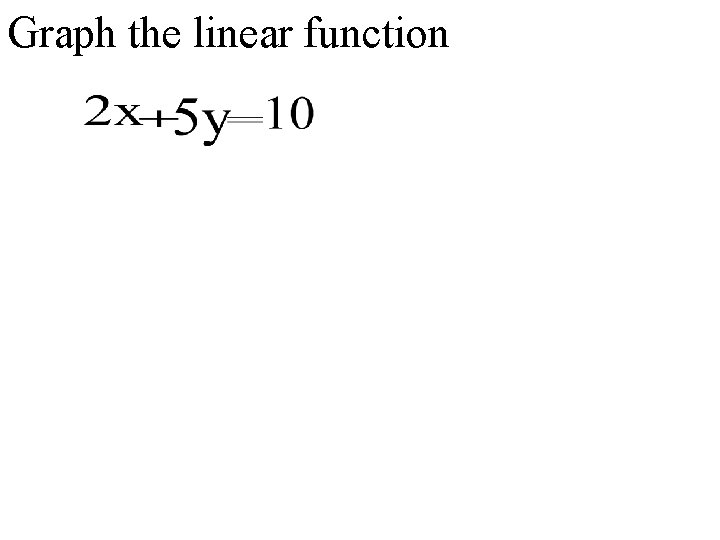 Graph the linear function