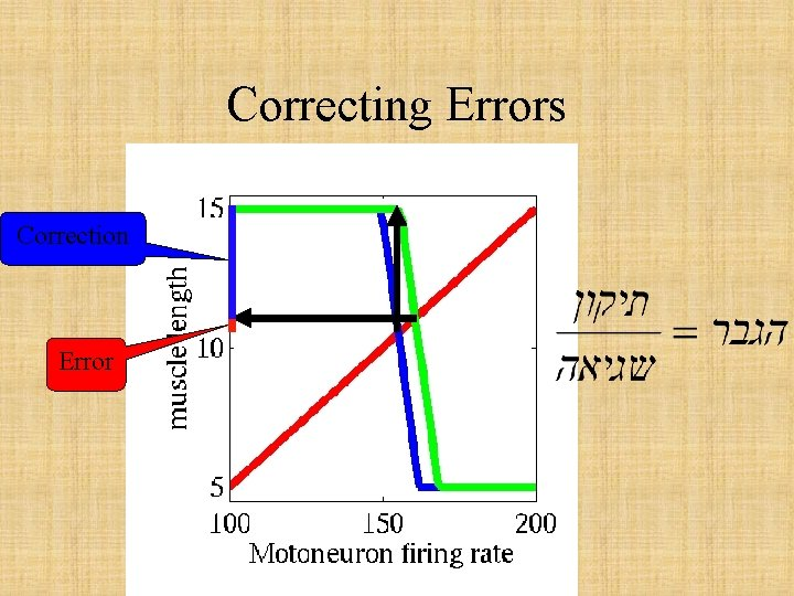Correcting Errors Correction Error