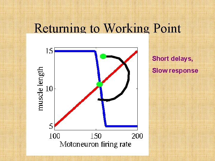 Returning to Working Point Short delays, Slow response