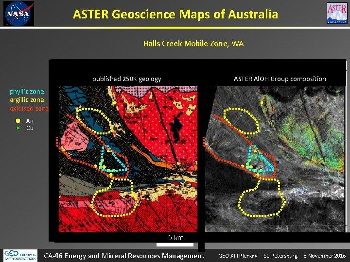 ASTER Geoscience Maps of Australia Halls Creek Mobile Zone, WA published 250 K geology