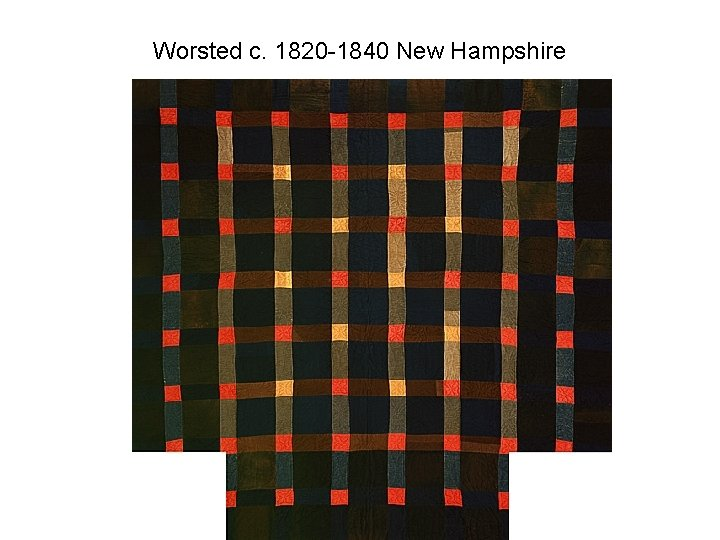 Worsted c. 1820 -1840 New Hampshire