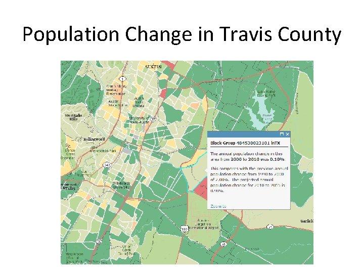 Population Change in Travis County