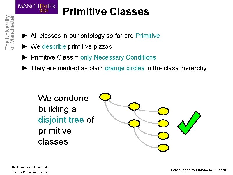 Primitive Classes ► All classes in our ontology so far are Primitive ► We